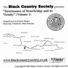 Streetnames of Stourbridge and its vicinity (Volume 1) CD-ROM