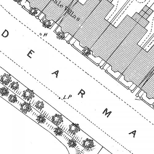 Clairmont Cottages Birmingham Al: Old Birmingham Ordnance Survey Map XIV.10.11