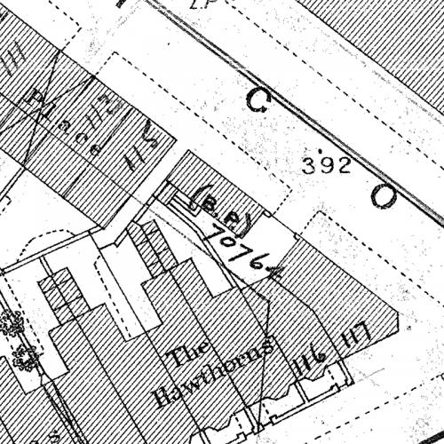 Clairmont Cottages Birmingham Al: Old Birmingham Ordnance Survey Map XIV.10.11A