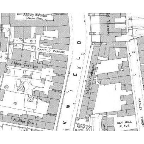 Clairmont Cottages Birmingham Al: Old Birmingham Ordnance Survey Map XIII.8.13