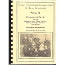 Bromsgrove Part 2 - 1851 census Surname index Volume 10