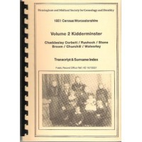 Kidderminster - 1851 census Surname index Volume 2