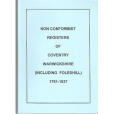 Coventry Non Conformist registers (including Foleshill) 1761-1837