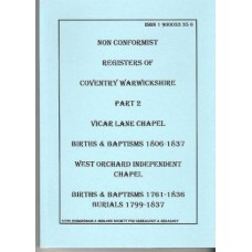 Coventry Non Conformist Registers - Part 2