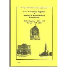 Bewdley and Kidderminster Non Conformist Registers