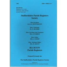 Blurton Parish Register Transcripts, Baptisms 1813 - 1855,  Marriages 1842 - 1855,  Burials 1828 - 1855