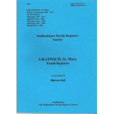Gratwich St. Mary Parish Registers/records - Book
