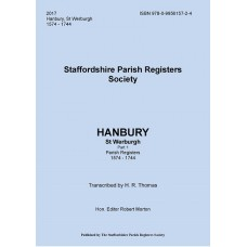 Hanbury St. Werburgh Staffordshire Parish Register Transcripts - Part 1 - 1574-1744 - Book