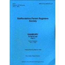 Hanbury St. Werburgh Staffordshire Parish Register Transcripts - Part 3 - 1813-1900 - Book