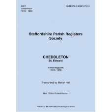Cheddleton St. Edward Staffordshire Parish Register Transcripts - Part 2 - 1813-1900 - Book