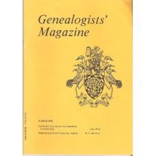 GENEALOGISTS MAGAZINE - Back issues 1925 - 1994
