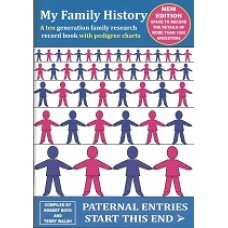 My Family History - A ten generation family research record book with pedigree charts - Version 3