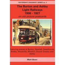 Burton and Ashby Light Railways on old picture postcards