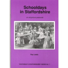 Schooldays in Staffordshire on old picture postcards
