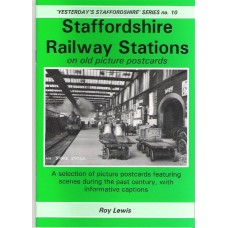 Staffordshire Railway Stations on old picture postcards