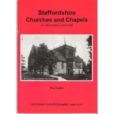 Staffordshire Churches and Chapels on old picture postcards