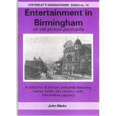 Birmingham Entertainment on old picture postcards