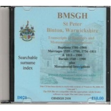Binton Warwickshire Parish register transcripts