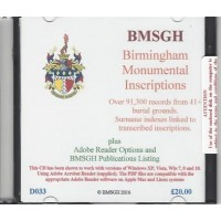 Birmingham Monumental Inscriptions - CD