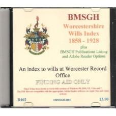 Worcestershire Wills Index 1858-1928