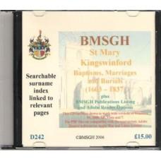 Kingswinford Parish Registers