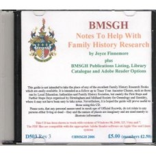 BMSGH Notes to help with Family History Research