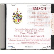 Solihull, Knowle and Tanworth - 1871 census for Greater Birmingham(part)