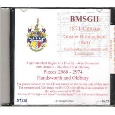 Handsworth and Oldbury - 1871 census for Greater Birmingham(part)