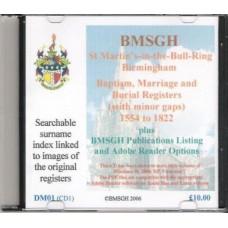 Birmingham St. Martin's Parish Registers - Baptisms and Burials 1554 - 1812, Marriages 1554 -1822 - Copies of original register images