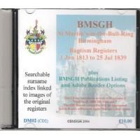 Birmingham St. Martin's Parish Registers - Baptisms 1 January 1813 - 25 July 1839  - Copies of original register images