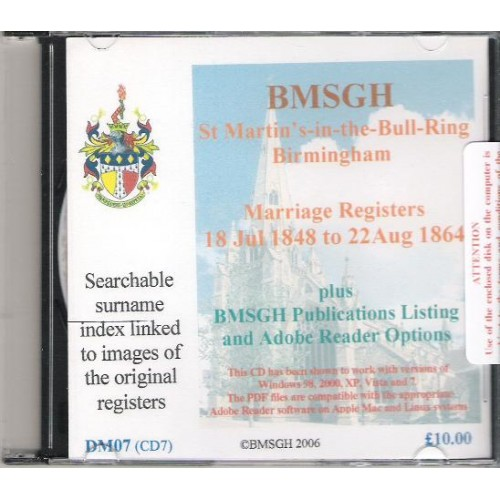 Birmingham St  Martin's Parish Registers - Marriages 18 July 1848