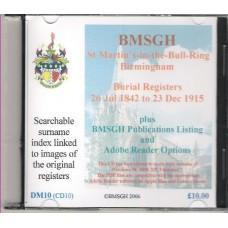 Birmingham St. Martin's Parish Registers - Burials 26 July 1842 - 23 December 1915  - Copies of original register images