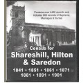 Shareshill, Hilton and Saredon - Census(1841-1901) and Parish records