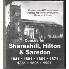 Shareshill, Hilton and Saredon - Census(1841-1901) and Parish records