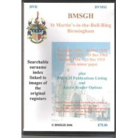 Birmingham St. Martin's Parish Registers - Copies of original register images - DVD