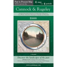Cannock and Rugeley - Cassini Past and Present Map - 4 maps from 4 periods