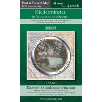 Kidderminster and Stourport on Severn - Cassini Past and Present Map - 4 maps from 4 periods