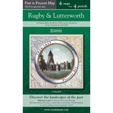 Rugby and Lutterworth - Cassini Past and Present Map - 4 maps from 4 periods