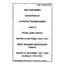 Coventry Non Conformist Registers - Part 2 (downloadable file)