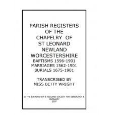 Newland Worcestershire Chapelry of St.Leonard Parish register transcripts (download)