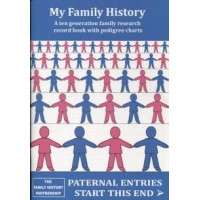 My Family History - A ten generation family research record book with pedigree charts