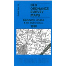 Cannock Chase and SE Staffordshire 1898 - Old Ordnance Survey Maps - The Godfrey Edition