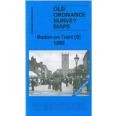 Burton on Trent 1882 - Coloured - Old Ordnance Survey Maps - The Godfrey Edition