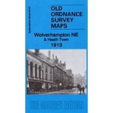 Wolverhampton (NE) and Heath Town 1913 - Old Ordnance Survey Maps - The Godfrey Edition