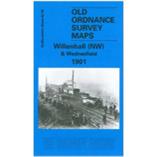 OLD ORDNANCE SURVEY MAP WOLVERHAMPTON NW 1901