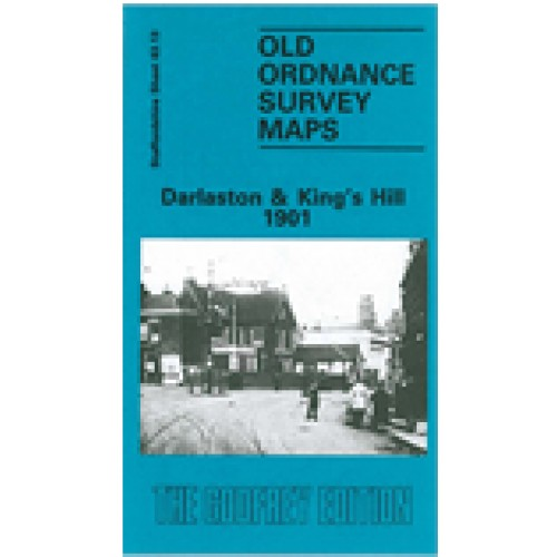 OLD ORDNANCE SURVEY MAP DARLASTON 1913 KINGS HILL OLD MOXLEY BUTCROFT WOODS BANK