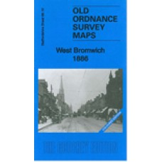 West Bromwich 1886 - Coloured - Old Ordnance Survey Maps - The Godfrey Edition