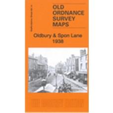 Oldbury and Spon Lane 1938 - Old Ordnance Survey Maps - The Godfrey Edition