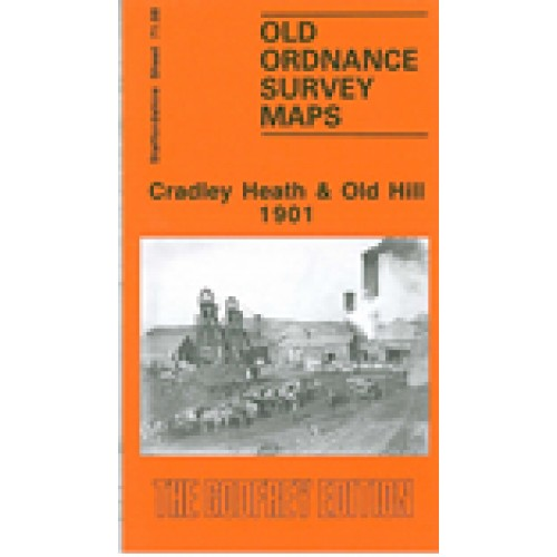 OLD ORDNANCE SURVEY MAP CRADLEY HEATH OLD HILL 1881 WHITEHALL RD CHERRY ORCHARD