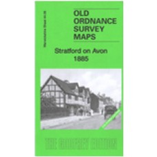 Stratford on Avon 1885 (Coloured) - Old Ordnance Survey Maps - The Godfrey Edition